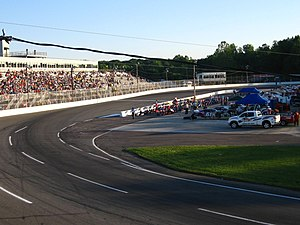 Langley Speedway (Virginia) - Image: Taylor Meyn 05 17 2008 Langley Speeway Pre Race