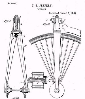 Tire - Thomas B. Jeffery's 1882 clincher tire and rim patent