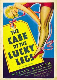 <i>The Case of the Lucky Legs</i> 1935 film by Archie Mayo