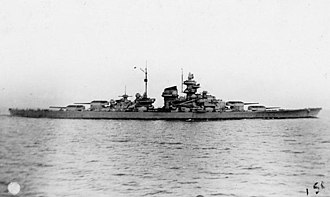 Battleships in World War II - Image: Tirpitz early