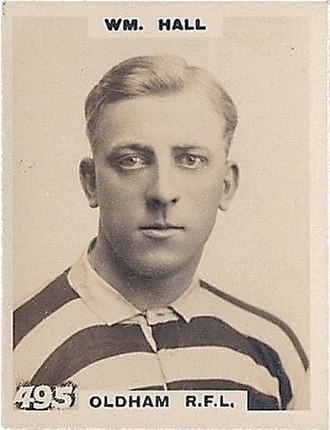 Billy Hall (rugby) - Godfrey Phillips Cigarette card featuring William Hall