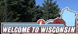 Wisconsin state welcome sign