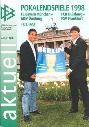 1998 DFB-Pokal Final - Image: 1998 DFB Pokal Final programme