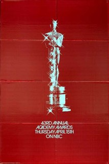 1971 ceremony honoring the best in film for 1970