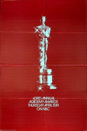 43rd Academy Awards - Image: 43rd Academy Awards