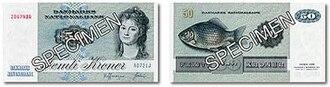 Banknotes of Denmark, 1972 series - 50 kroner note