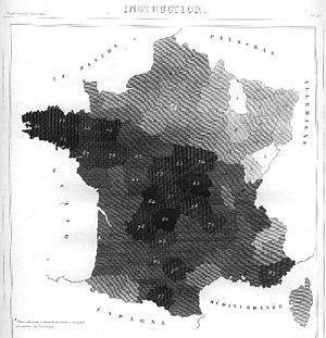 André-Michel Guerry - Image: AM Guerry carte 3 low