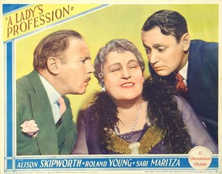 <i>A Ladys Profession</i> 1933 film by Norman Z. McLeod