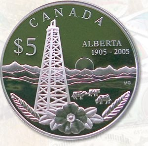 Coins of the Canadian dollar - Image: Alberta