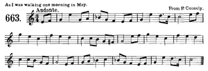 "One Morning in May (folk song) - ""As I Was Walking One Morning in May"""