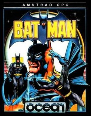Batman (1986 video game) - Amstrad CPC Cover art