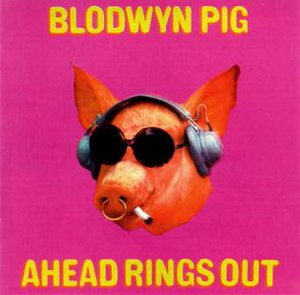 "KSHE - The cover of Blodwyn Pig's 1969 debut album, ""Ahead Rings Out,"" which inspired the Sweetmeat character."
