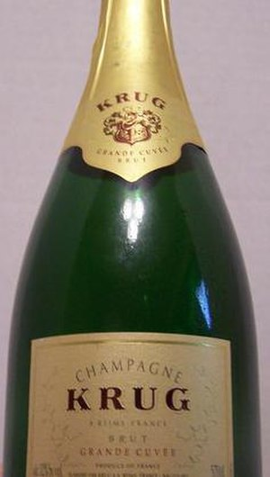 Champagne Krug - Display bottle of Grande Cuvée, Krug's non-vintage brut.