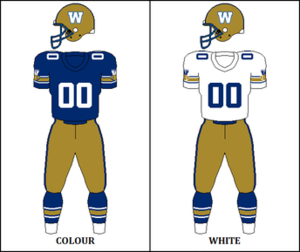 1980 Winnipeg Blue Bombers season - Image: CFL WPG Jersey 1980