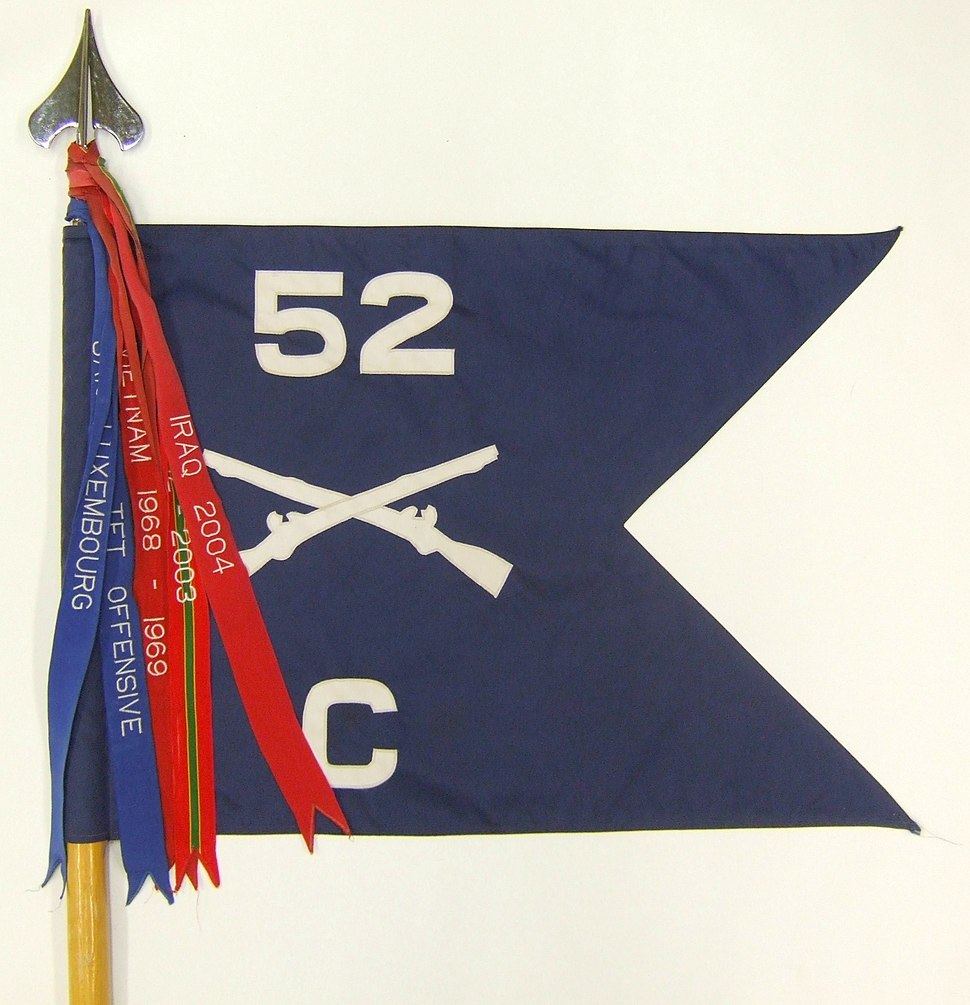 C Company 52d Infantry guidon incomplete streamers