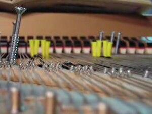 Sonatas and Interludes - A piano prepared for a performance of Sonatas and Interludes