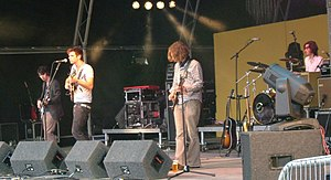 Cherry Ghost - Cherry Ghost performing at Summer Sundae 2007. Left to right: Phill Anderson, Simon Aldred, Jim Rhodes, and Grenville Harrop.