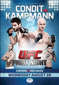 A poster or logo for UFC Fight Night: Condit vs. Kampmann 2.