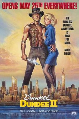 Crocodile Dundee II - Theatrical release poster by Dan Gouzee
