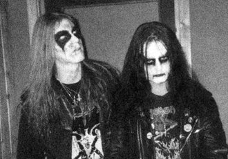 Dead (musician) - Dead (left) and Euronymous (right)