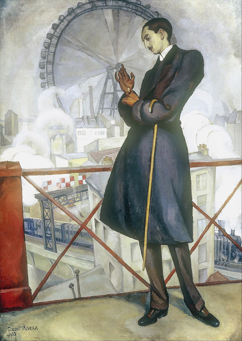 Diego Rivera - Portrait of Adolfo Best Maugard - Google Art Project