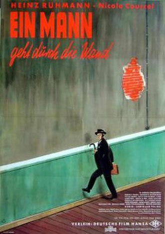 The Man Who Walked Through the Wall - Theatrical release poster