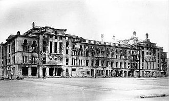 Bombing of Tallinn in World War II - Estonia Theatre after bombing by the Soviet Air Forces in March 1944