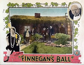 Mack Swain - Lobby card for Finnegan's Ball (1927)