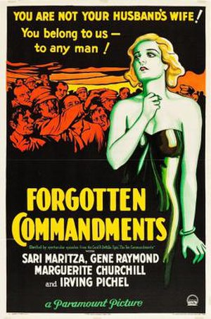 Forgotten Commandments - Theatrical release poster