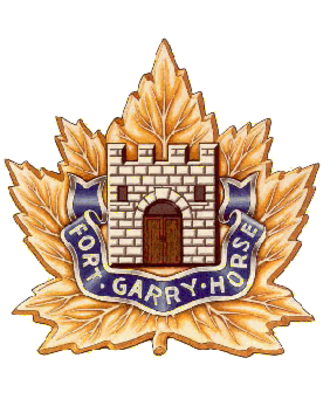 The Fort Garry Horse - Image: Fort Garry Horse cap badge