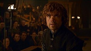 The Laws of Gods and Men - Tyrion demanding a trial by combat.