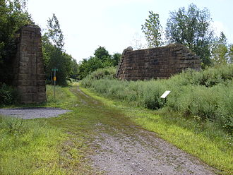 Caledonia, New York - The Genesee Valley Greenway in Caledonia