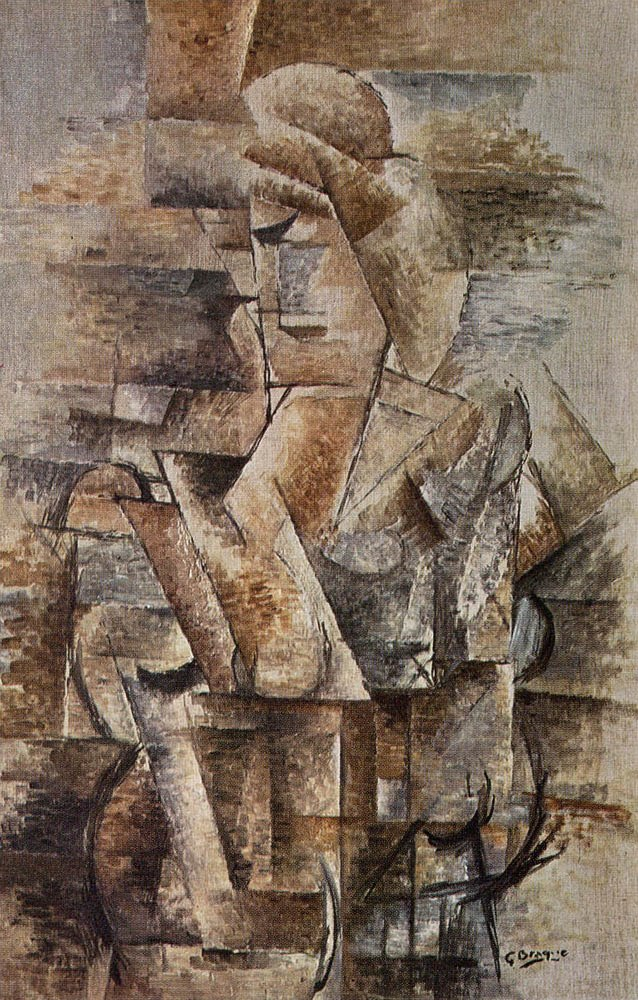 Georges Braque, 1910, Portrait of a Woman, Female Figure (Torso Ženy), oil on canvas, 91 x 61 cm, private collection