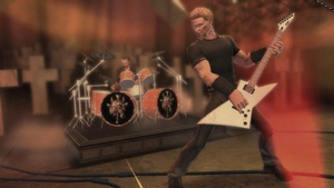 Guitar Hero: Metallica - Members of Metallica performed extensive motion capture for their in-game avatars in Guitar Hero: Metallica.  Venues were also created based on the covers of Metallica's albums, such as Master of Puppets shown above.