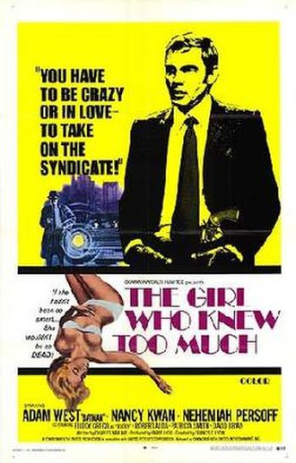The Girl Who Knew Too Much (1969 film) - Theatrical release poster