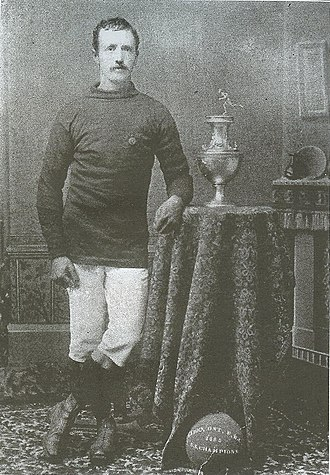 1885 American Cup - Harry Holden with the American Cup