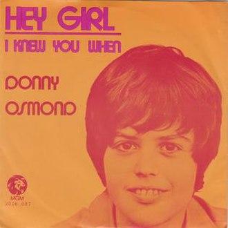 Hey Girl (Freddie Scott song) - Image: Heygirlosmond