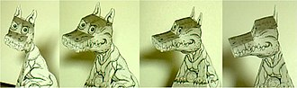 Hollow-Face illusion - Image: Hollow dragon front
