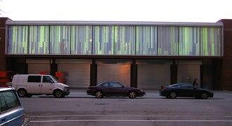 Hyde Park Art Center - Exterior view of The Jackman Goldwasser Catwalk Gallery