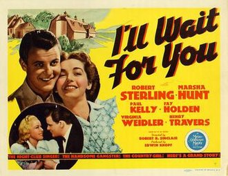 I'll Wait for You (film) - Theatrical release poster