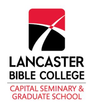 Lancaster Bible College - Image: Lancaster Bible College Seal