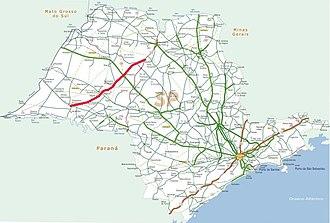 Rodovia Assis Chateaubriand - Image: Mapa rodovia assis chateaubriand