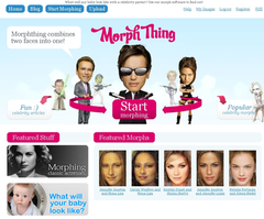 A Screenshot of the MorphThing Homepage