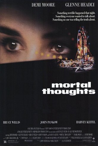 Mortal Thoughts - Theatrical release poster