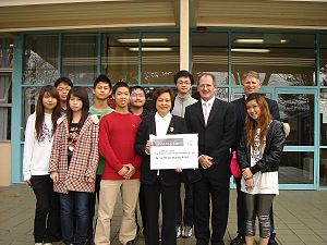 Narrabundah College - Narrabundah College students, along with Principal, Assistant Principal and representative of the Chinese Embassy in Canberra.