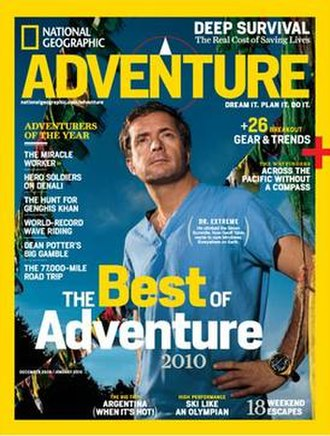 National Geographic Adventure (magazine) - December 2009/January 2010 issue front cover