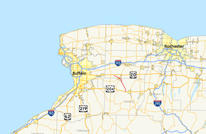 New York State Route 238 - Image: New York State Route 238 map