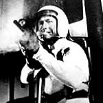 Adams wears an off-the-shelf motorcycle helmet in Mission Mars (1968) shortly before his death.