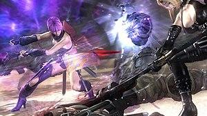 Ninja Gaiden II - Cooperative gameplay in Ninja Gaiden Sigma 2, featuring Rachel and Ayane