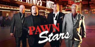 "Pawn Stars - From left: Rick Harrison, Austin ""Chumlee"" Russell, Corey Harrison, and Richard Harrison"